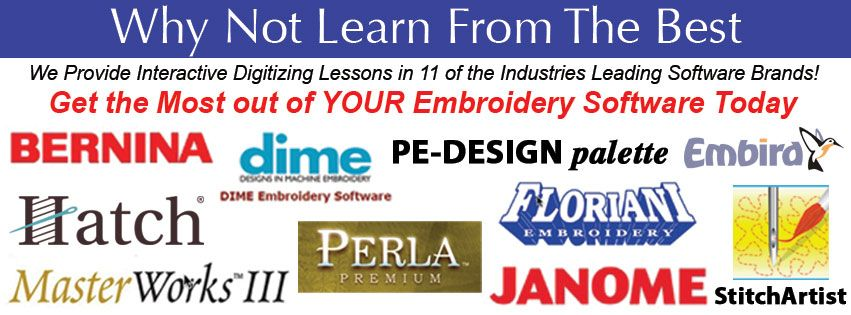 Interactive Embroidery Digitizing Lessons Tutorials In 10 Of The