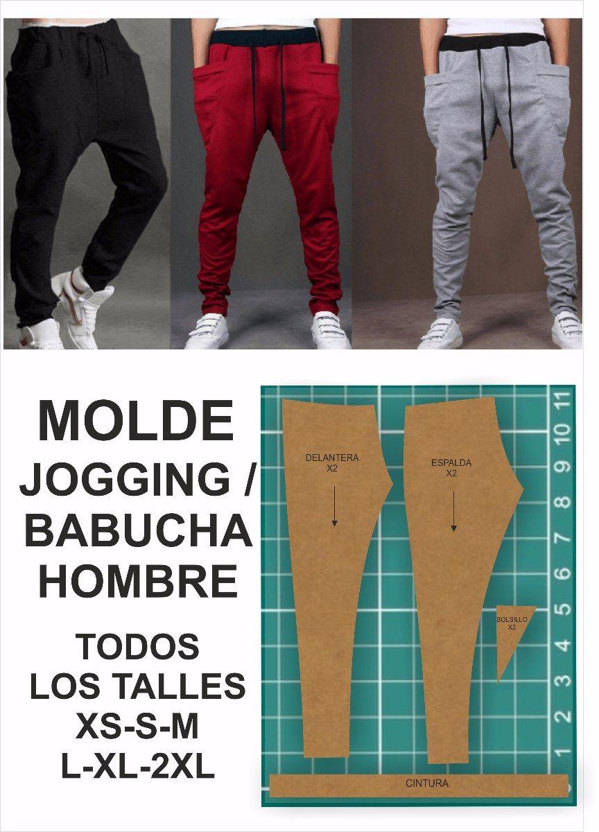 Resultado De Imagen Para Moldes De Pantalones De Jogging De Hombre Moldes De Pantalones Jogging Hombres