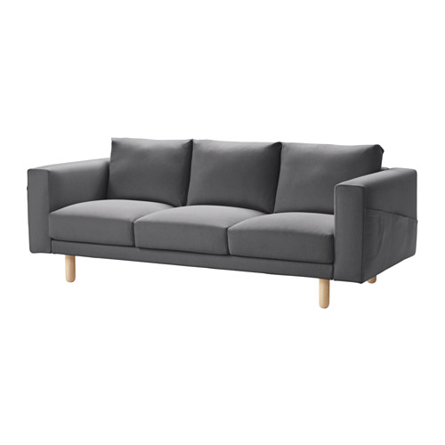Norsborg 3 Seat Sofa Finnsta Dark Grey Birch Ikea
