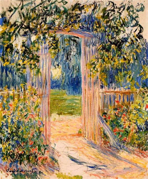 ❀ Blooming Brushwork ❀ - garden and still life flower paintings - Claude Monet. The Garden Gate (1881).