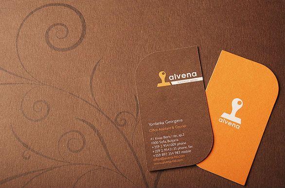 custom shaped business cards alvena - Custom Shaped Business Cards
