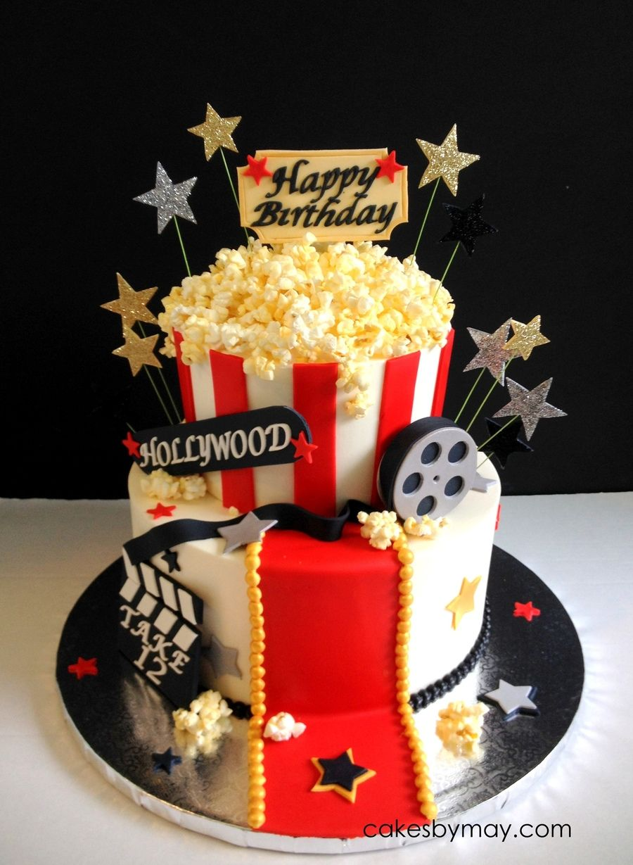 Movie Hollywood Theme Birthday Cake on Cake Central … | Sweet 16 ...