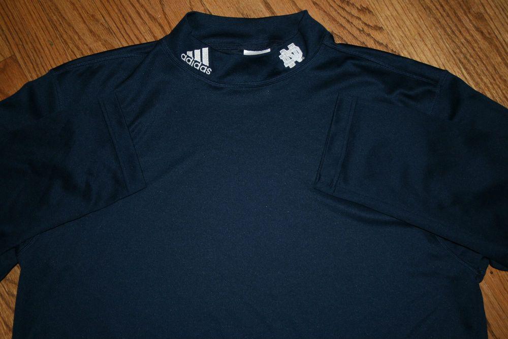 Notre Dame Fightin' Irish Mock Shirt Adidas climalite Men's