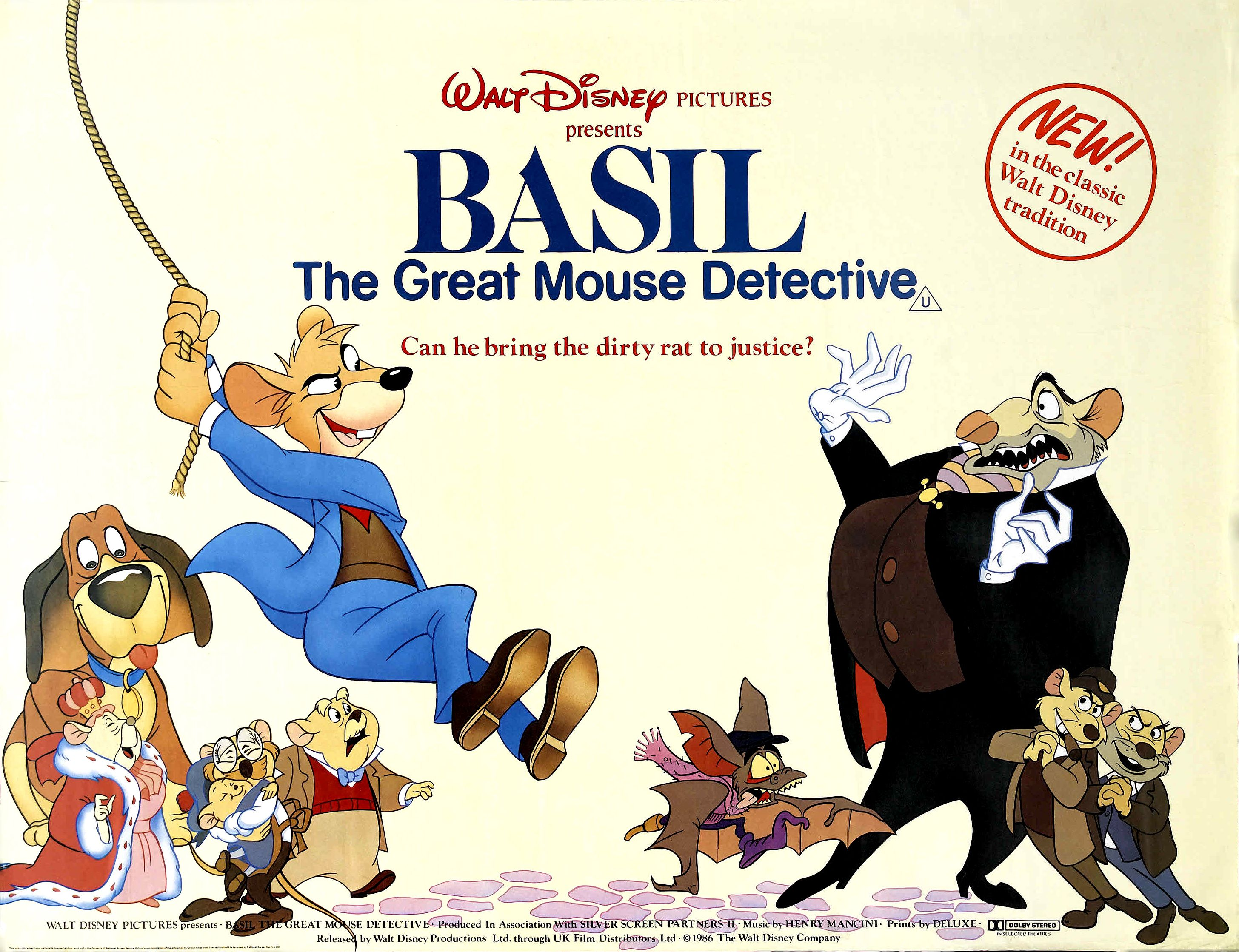 The Great Mouse Detective (1986) under its British title. The ...