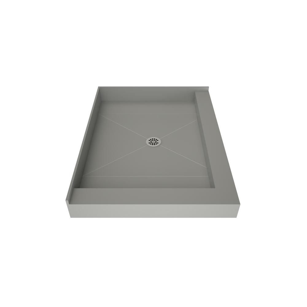 Tile Redi 42 In X 36 In Double Threshold Shower Base With Center