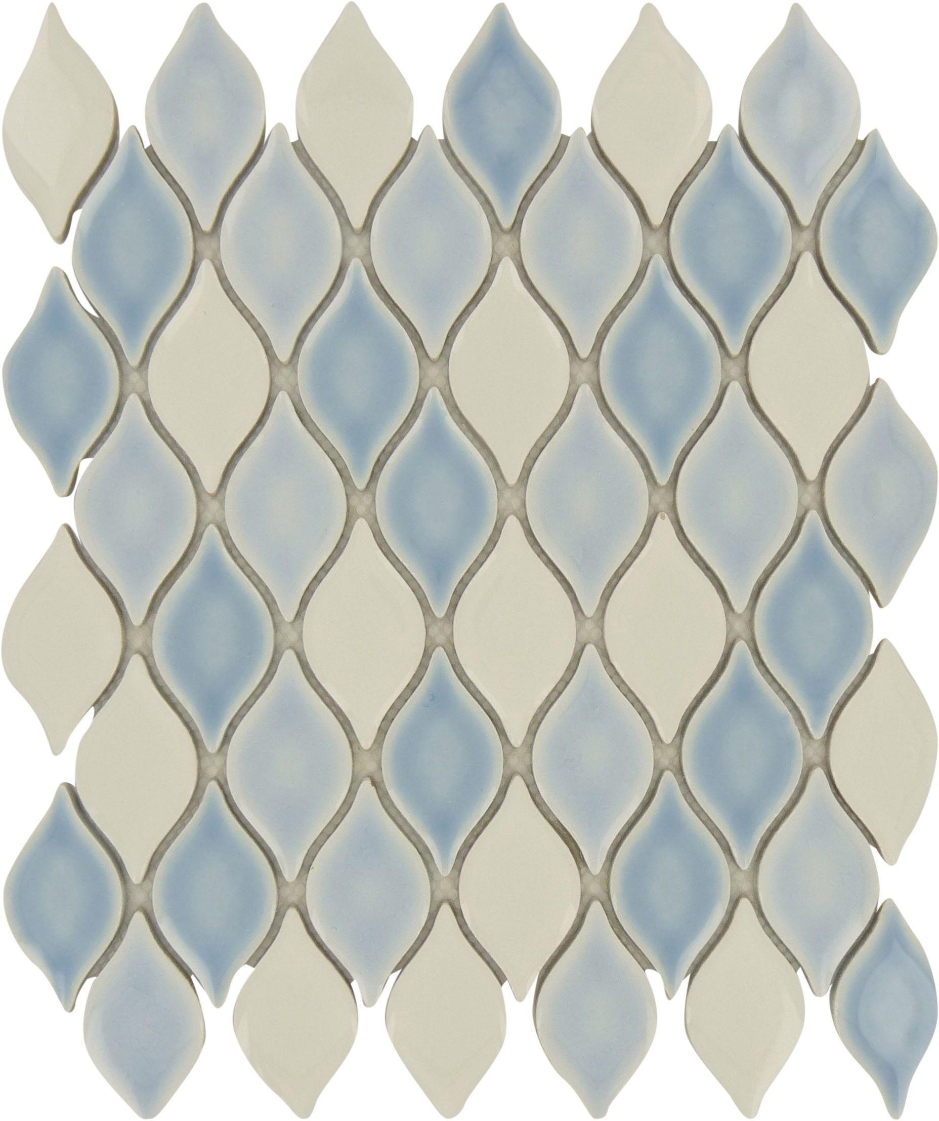 """Sheet Size: 12 1/2"""" X 10 3/4"""" Tile Size: 2 1/4"""" X 1 1/4"""
