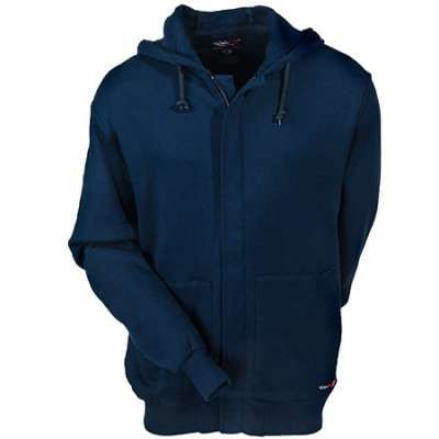 Walls Sweatshirts FRO37255 Navy Blue Flame-Resistant Hooded ...