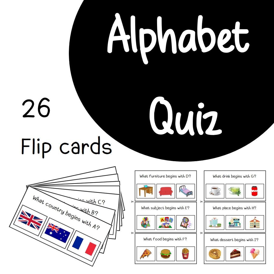 Alphabet Quiz Cards