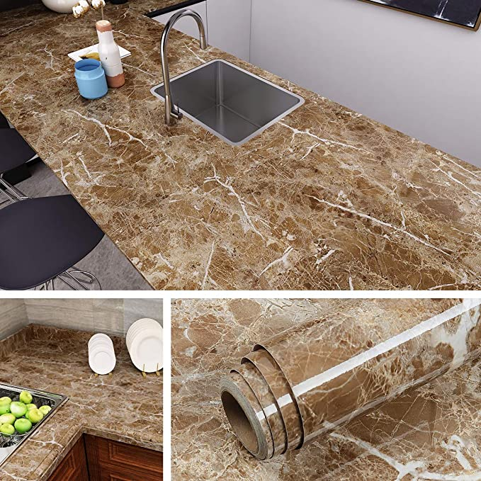 Livelynine Counter Top Covers Peel And Stick Wallpaper Self Adhesive Marble Wall Paper Roll Kitchen Countert Bathroom Vanity Decor Marble Wallpaper Countertops