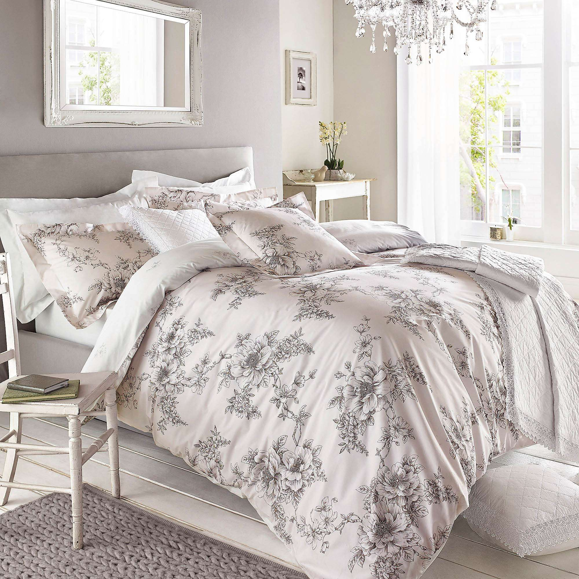 Holly Willoughby Fauna Charcoal 100/% Cotton Duvet Cover