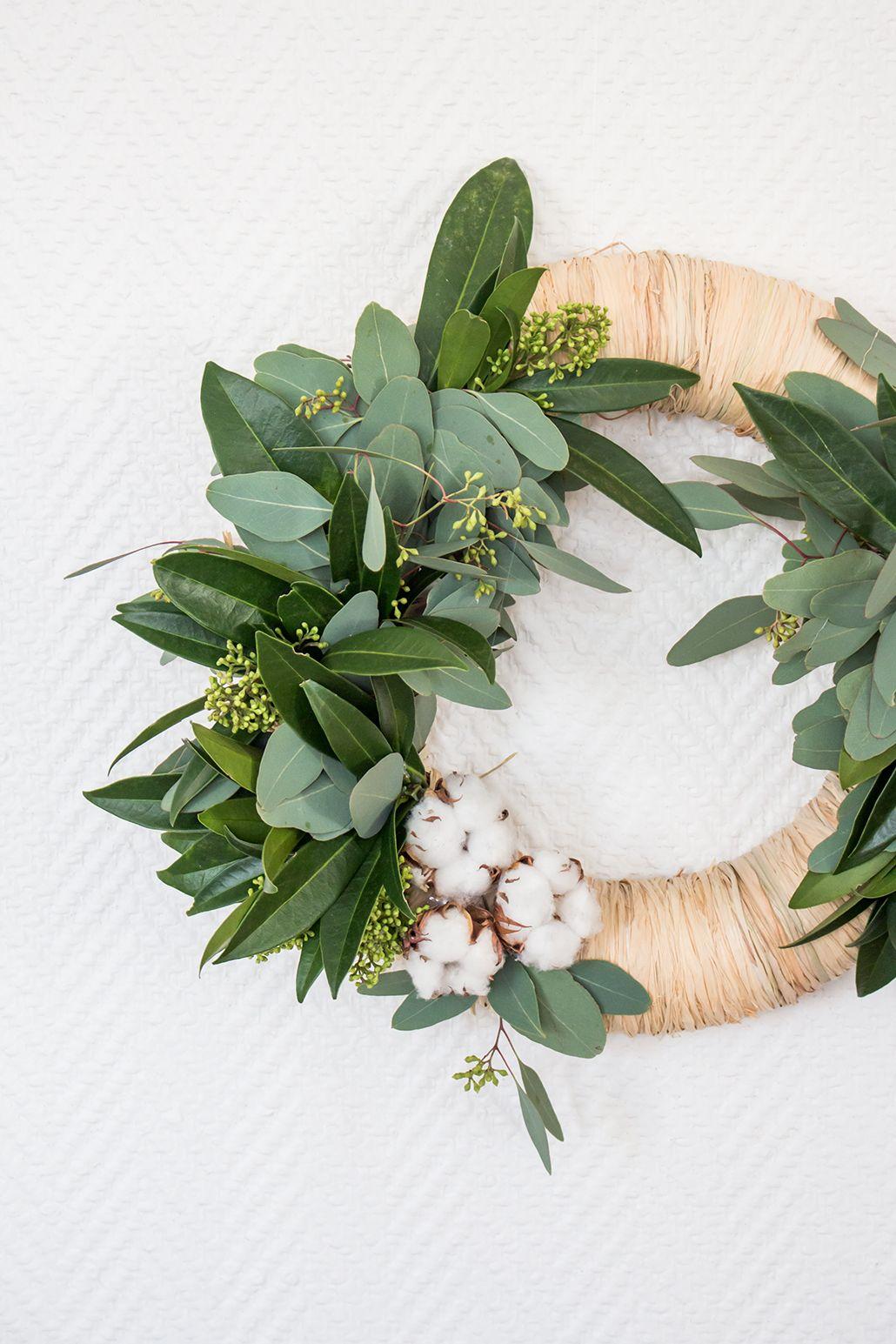 [Diy] : Ma couronne de Noël végétale ! #couronnedenoelfaitmain