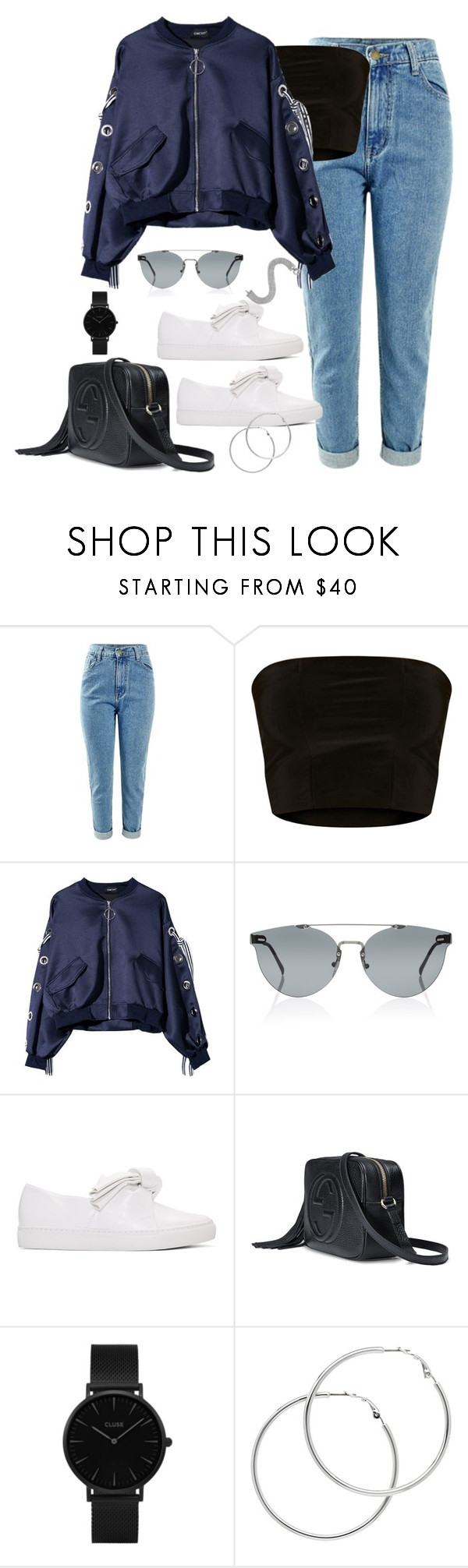 """""""Untitled #3924"""" by theaverageauburn ❤ liked on Polyvore featuring RetroSuperFuture, Cédric Charlier, Gucci, CLUSE and Melissa Odabash"""