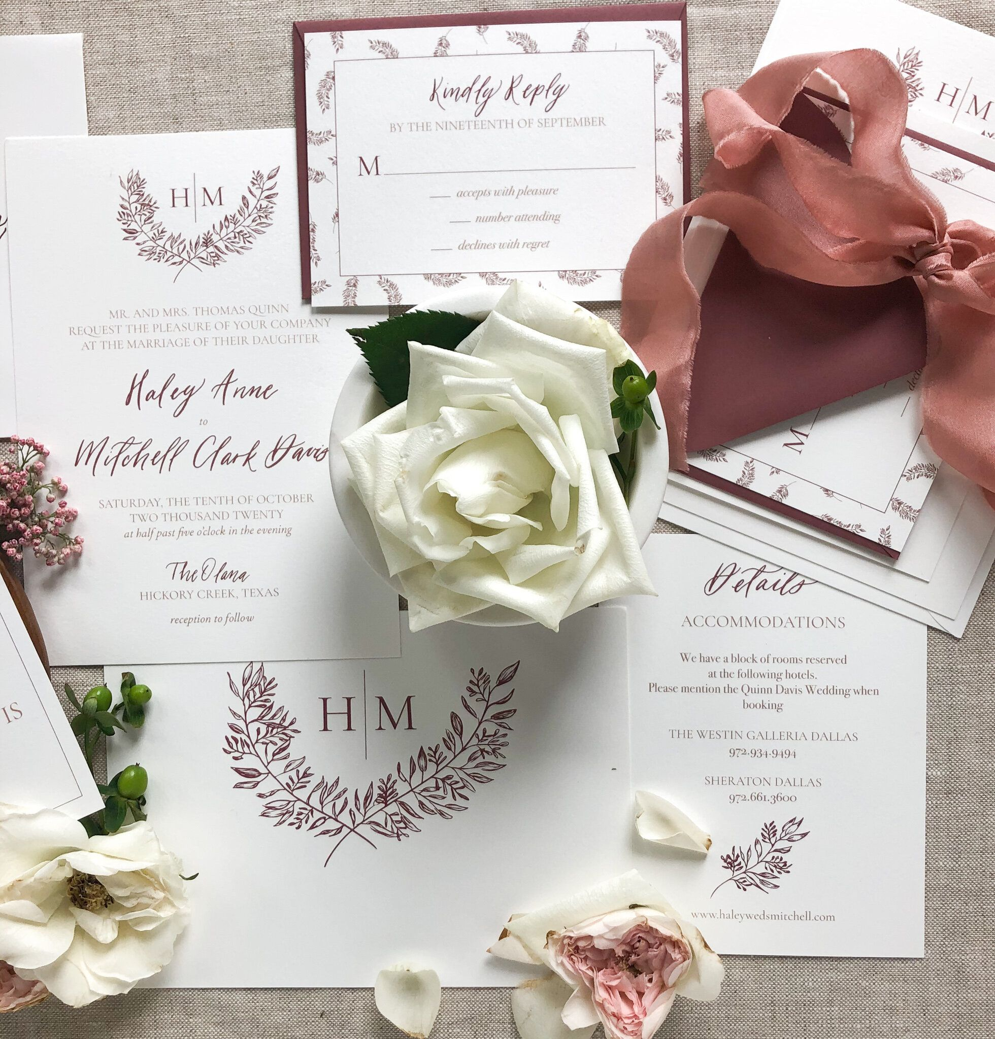 Fall Wedding Invitation Suite In 2020 Fall Wedding Invitations Fall Wedding Invitation Suite Wedding Invitations