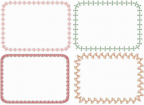 quilt frame borders 5x7 hoop size formats jef pes vip and hus gorgeous one color quilt borders or labels just use your own text inside to personalize