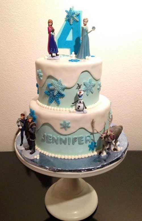 Super Frozen Birthday Cake Design Created By Lisa Peppers Pastry Chef Personalised Birthday Cards Epsylily Jamesorg