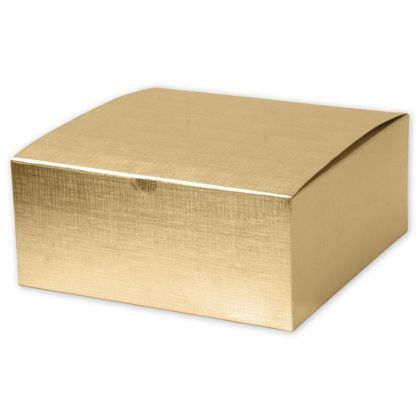 10 Large Square Gold Linen Foil Gift Boxes 8x8x3 5 Bridesmaid Gift Bags Bridesmaid Gift Boxes Bridesmaid Boxes