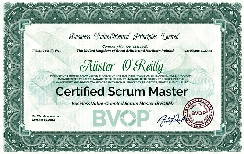 Scrum master certification online project management