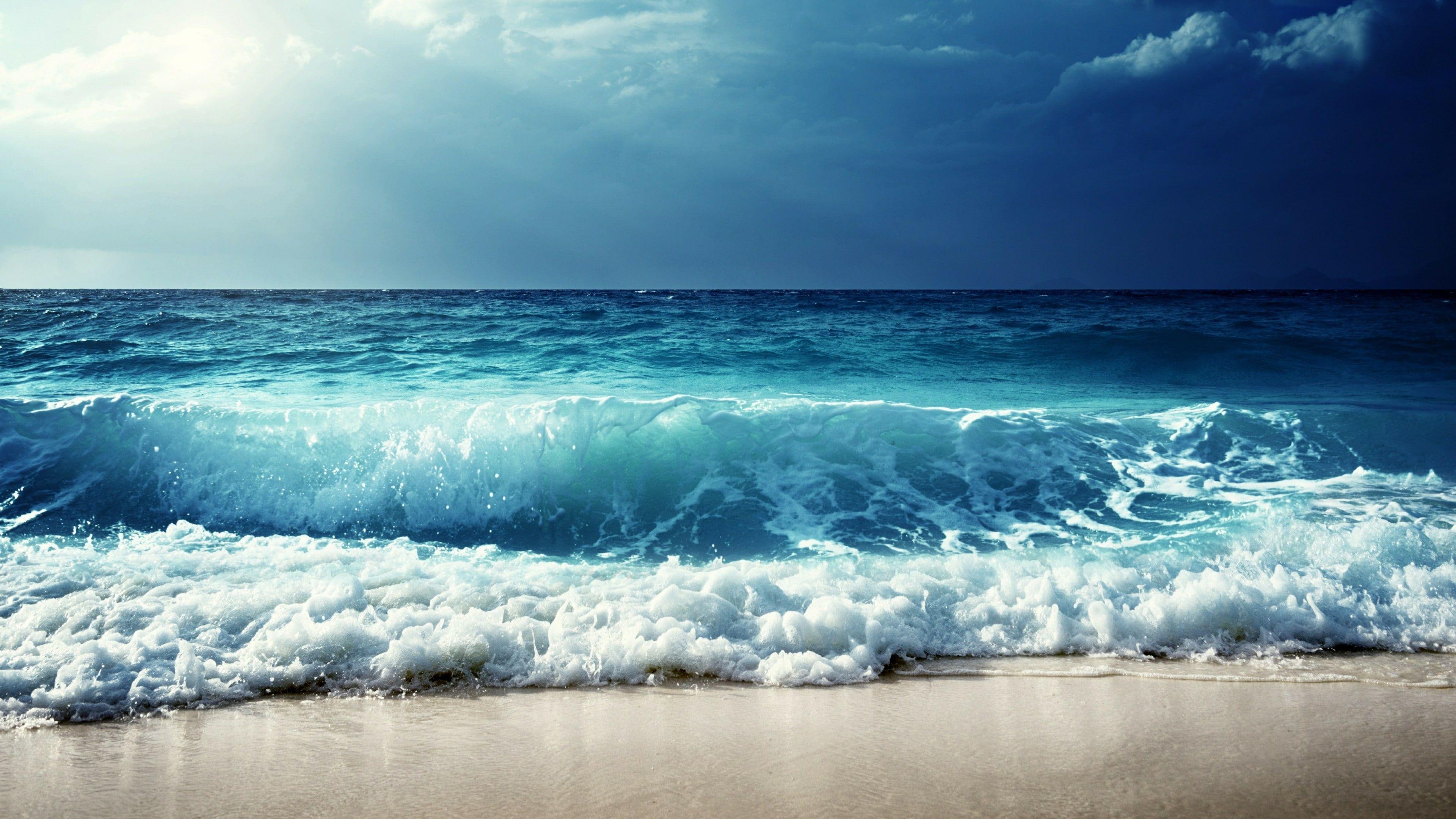 Sea Wave Ocean Sky Body Of Water Shore Horizon Wind Wave Water Cloud Daytime Beach Calm Sunlight 4k W Waves Wallpaper Waves Photography Wallpaper Hd wallpaper surfer wave ocean sky