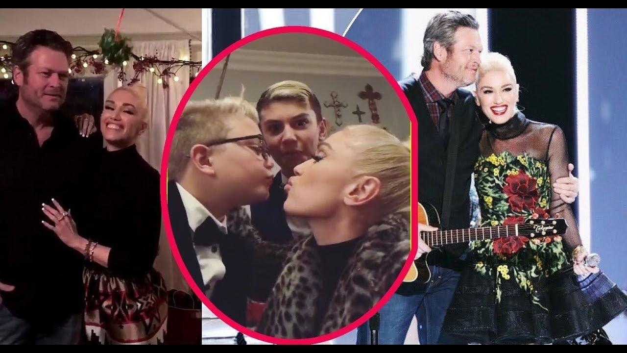 Gwen Stefani & Blake Shelton Share A Romantic Christmas Kiss Under ...