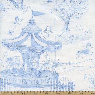 Carousel Dreams Scenic Cotton Fabric  Blue by Universalideas, $8.50 https://www.etsy.com/listing/164895773/carousel-dreams-scenic-cotton-fabric
