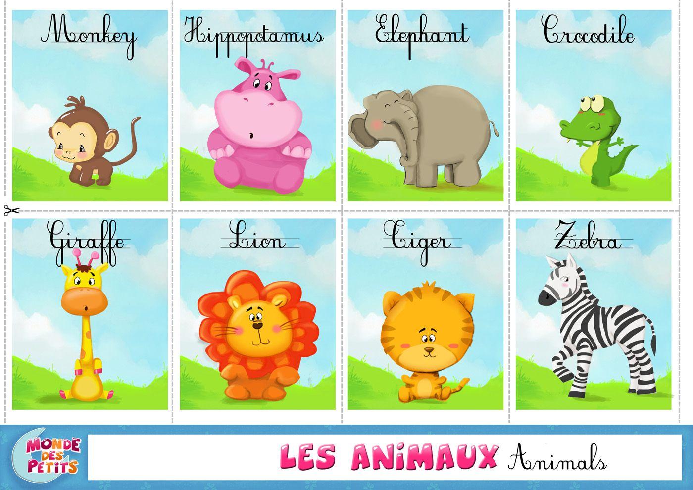 Célèbre apprendre-animaux-savane-anglais.jpg (1400×990) | éveil et  PD23
