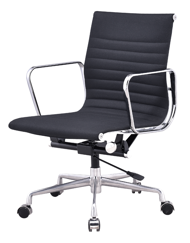 Bureaustoel Zwart Design.Eames Ea 117 Bureaustoel Zwart Linnen Kopen Cavel Design