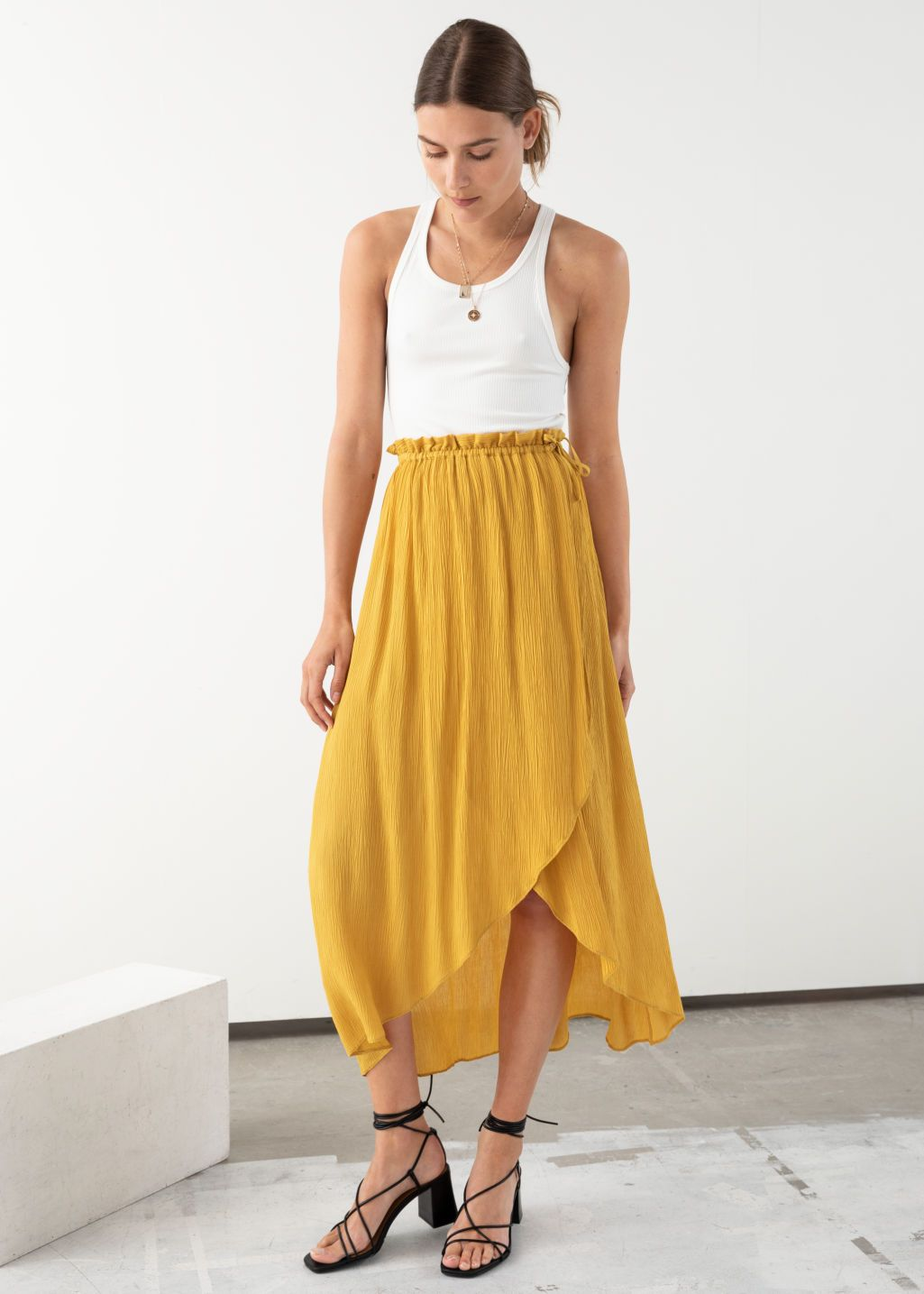 68b1a9964f8665 Paperbag Waist Wrap Skirt in 2019 | 255555 | Skirts, Skirt fashion ...