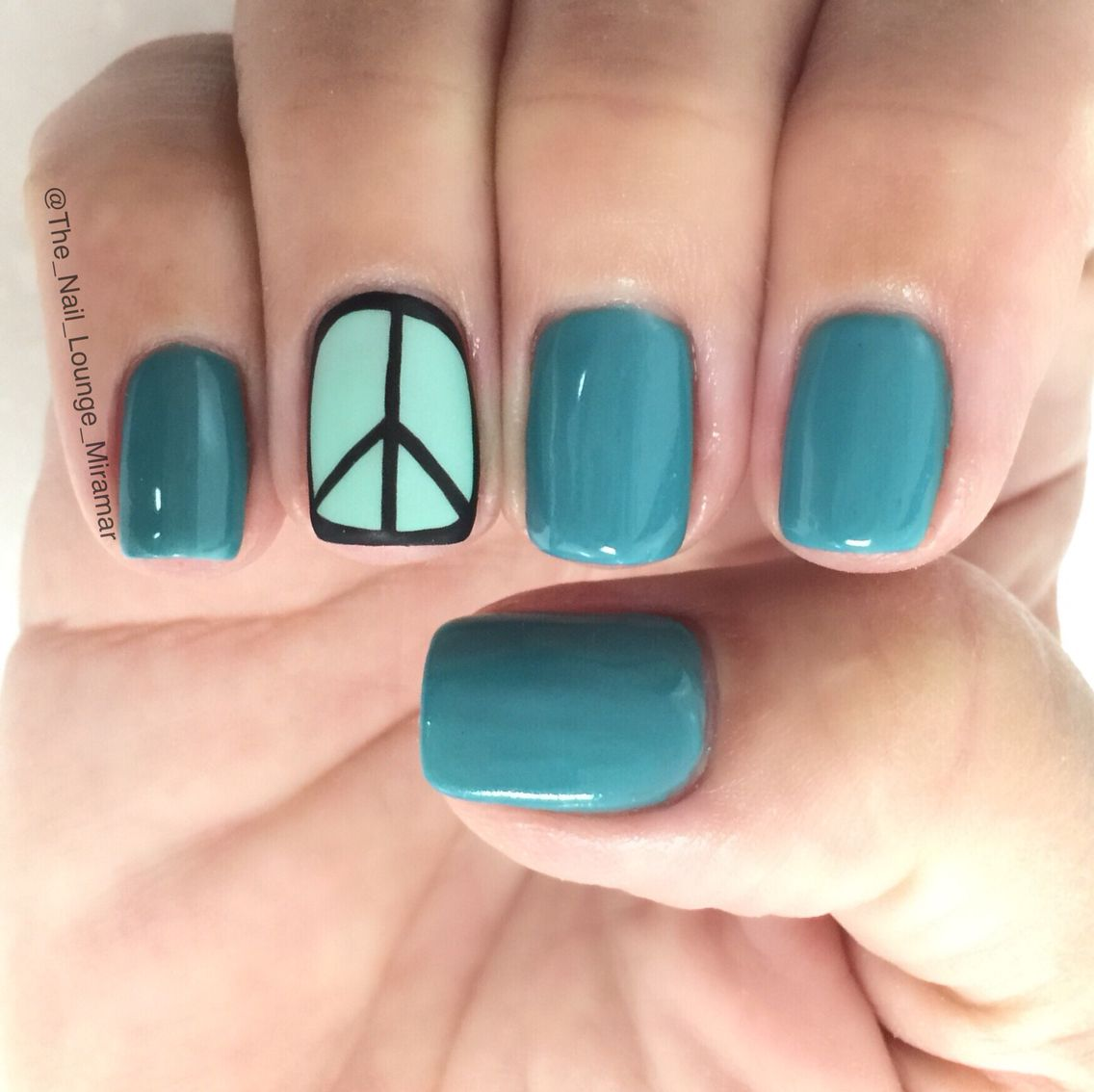 Simple Peace Nail Art Design Nail Art Pinterest Peace Nails