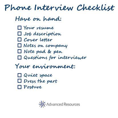 Superb Phone Interview Checklist. Job Interview QuestionsSkype ...