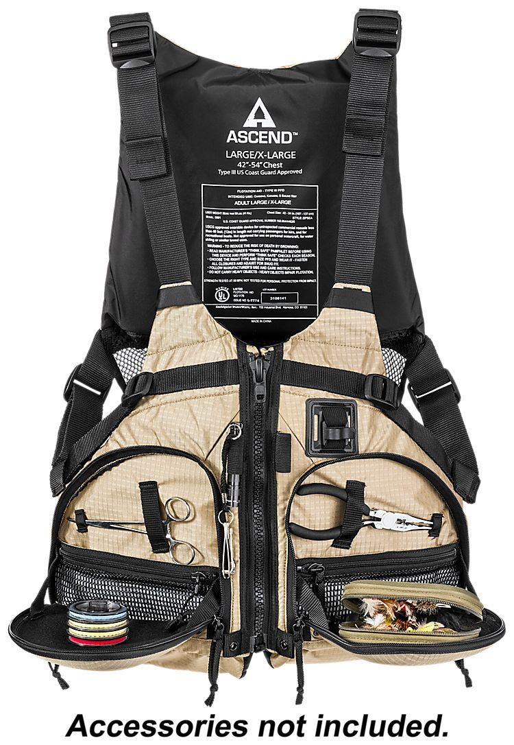 Ascend paddling fishing life jacket bass pro shops for Bass fishing life jacket