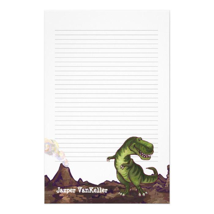 Tyrannosaurus Rex Writing Stuff Stationery | Zazzle.com #tyrannosaurusrex