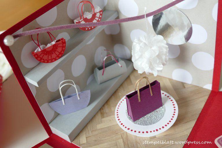 Vor einiger Zeit habe ich einen Explosionsbox als Geburtstagsüberraschung für ein Mädel gemacht, das sich sehnlichst einebestimmte Designertasche wünschte. Fragt mich jetzt nicht, welche Tasche, i…