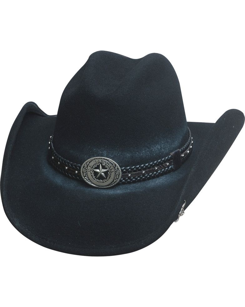 Bullhide Hats Men s Cowboy Collection Stray Bullet Wool Felt Western ... d3928438d