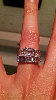 Vhoefler78 3 Weeks Ago Wedding: November 2014 My 1.06 Carat Emerald Cut  Center Stone