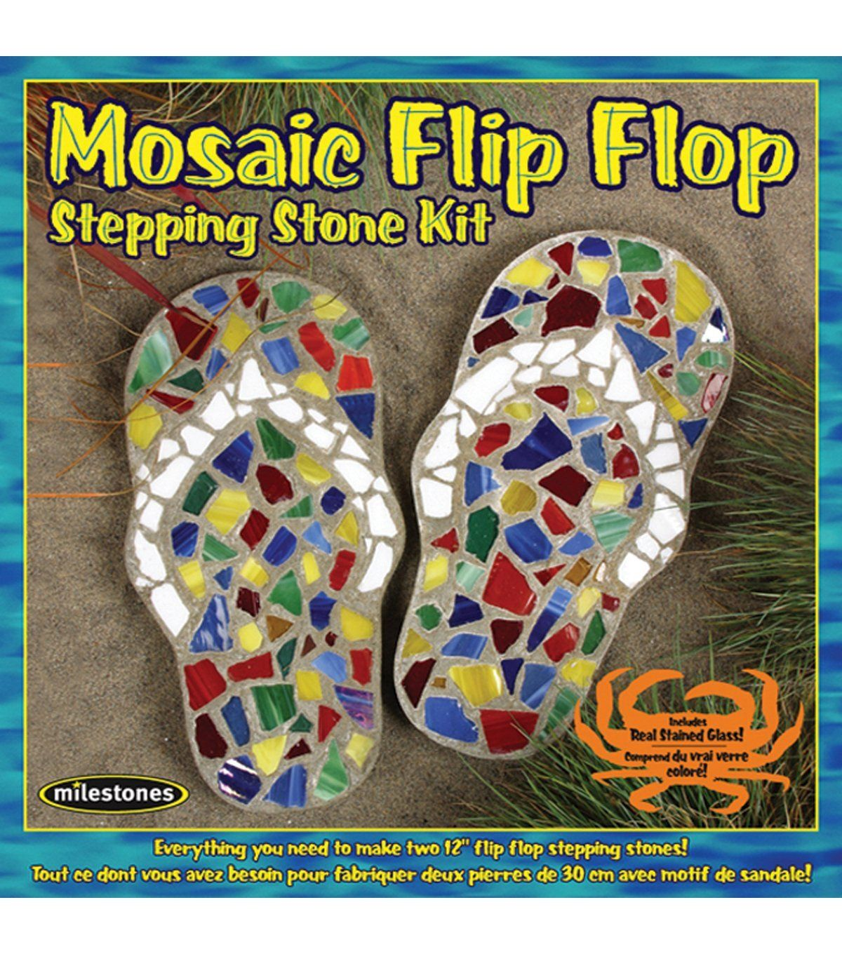 56d7e0ea04493 Midwest Products Mosaic Flip Flop Stepping Stone Kit