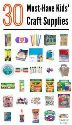 30 Must Have Kids Craft Supplies Olyvia Projects Kids Craft