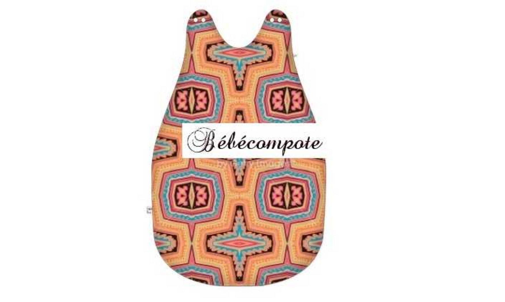 Gigoteuse tissus pagnes Wax bébé afrique www.bebecompote.com