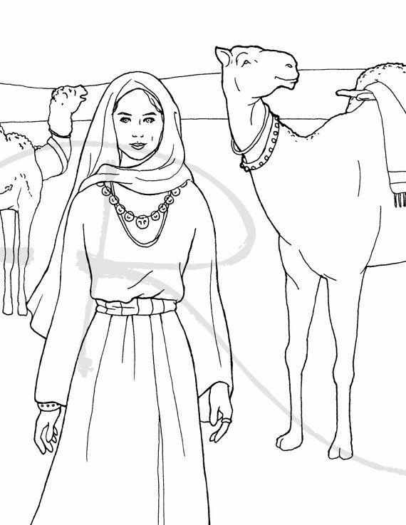 At First Sight - Rebekah, Genesis Coloring Page