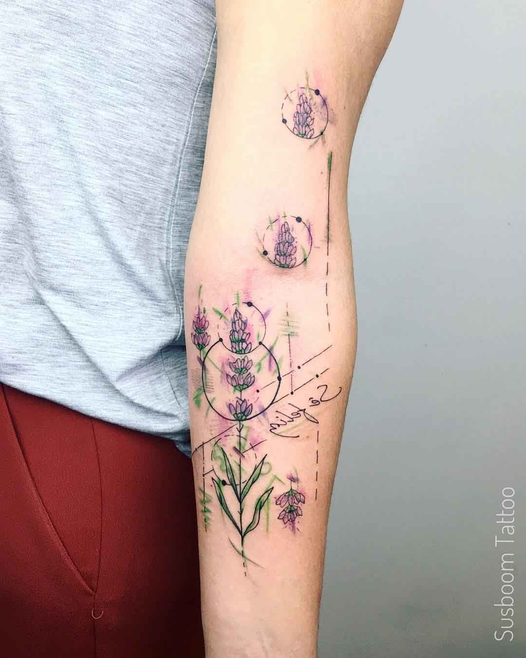 Pin De Claudia Membreño En Ideas Tattoos: Minimal Lavender Flower Tattoo