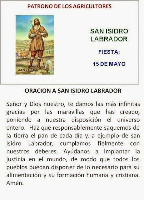 San Isidro Patrono De Los Agricultores Oraciones