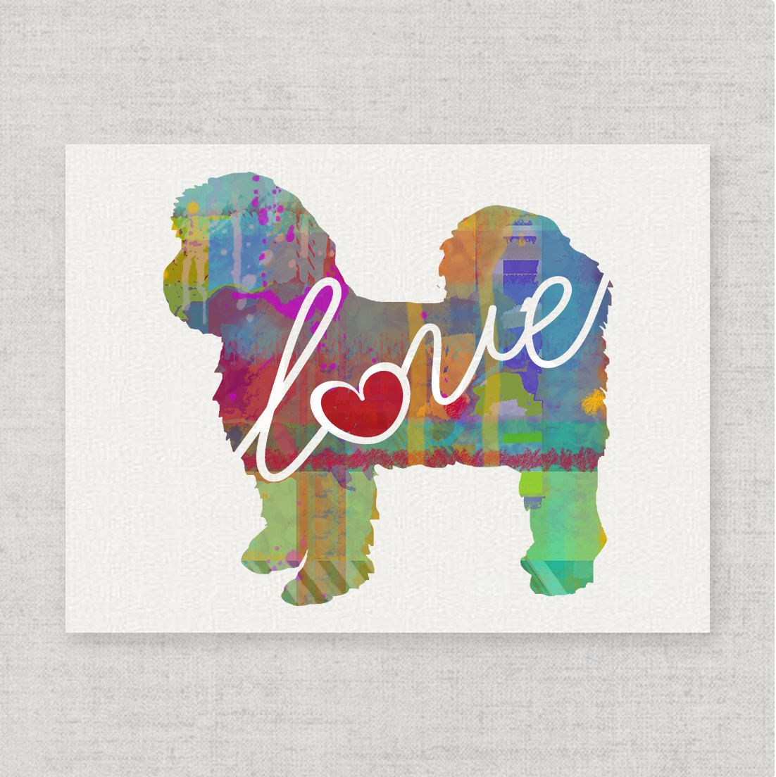 Shih Tzu Shih Tzu With Short Hair Art Print A Watercolor Style