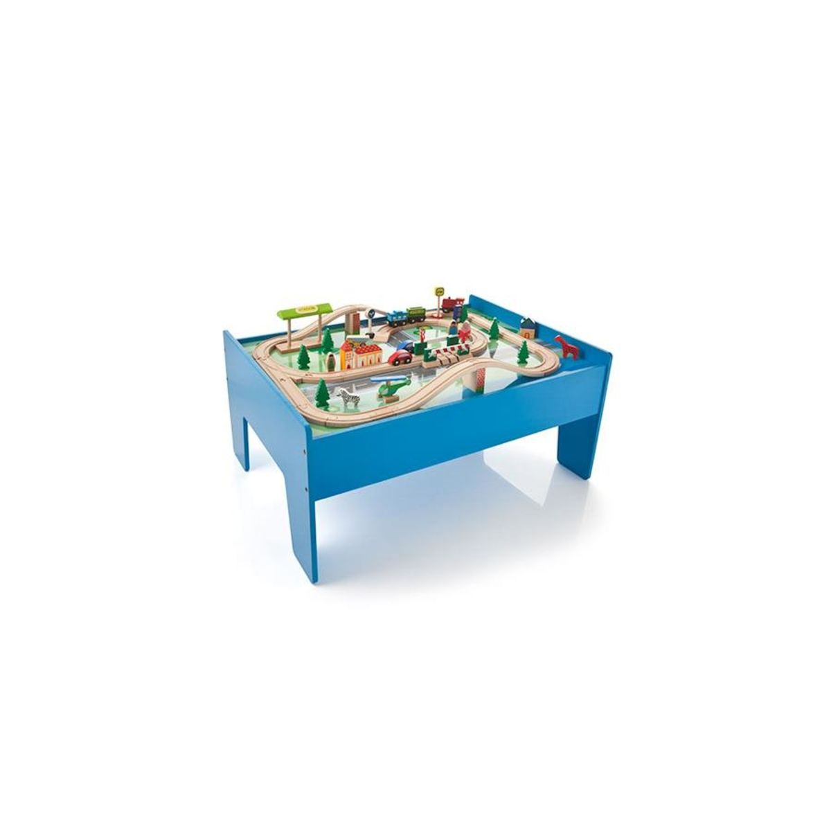 Explore Toddler Toys, Kids Toys, And More! Wooden Train Set With Table ...