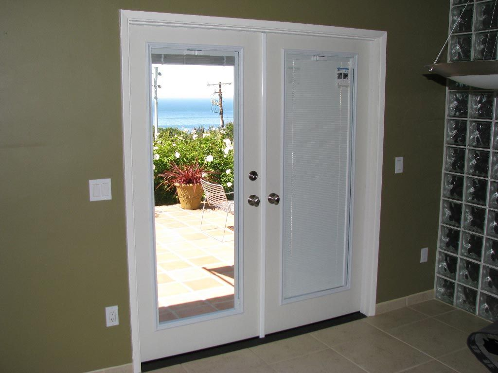 French Doors With Blinds Inside Glass Google Search For The Home
