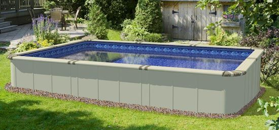 Ez Panel Grand 52 Aluminum Above Ground Swimming Pool Outdoor Pool Area Backyard Pool Above Ground Swimming Pools
