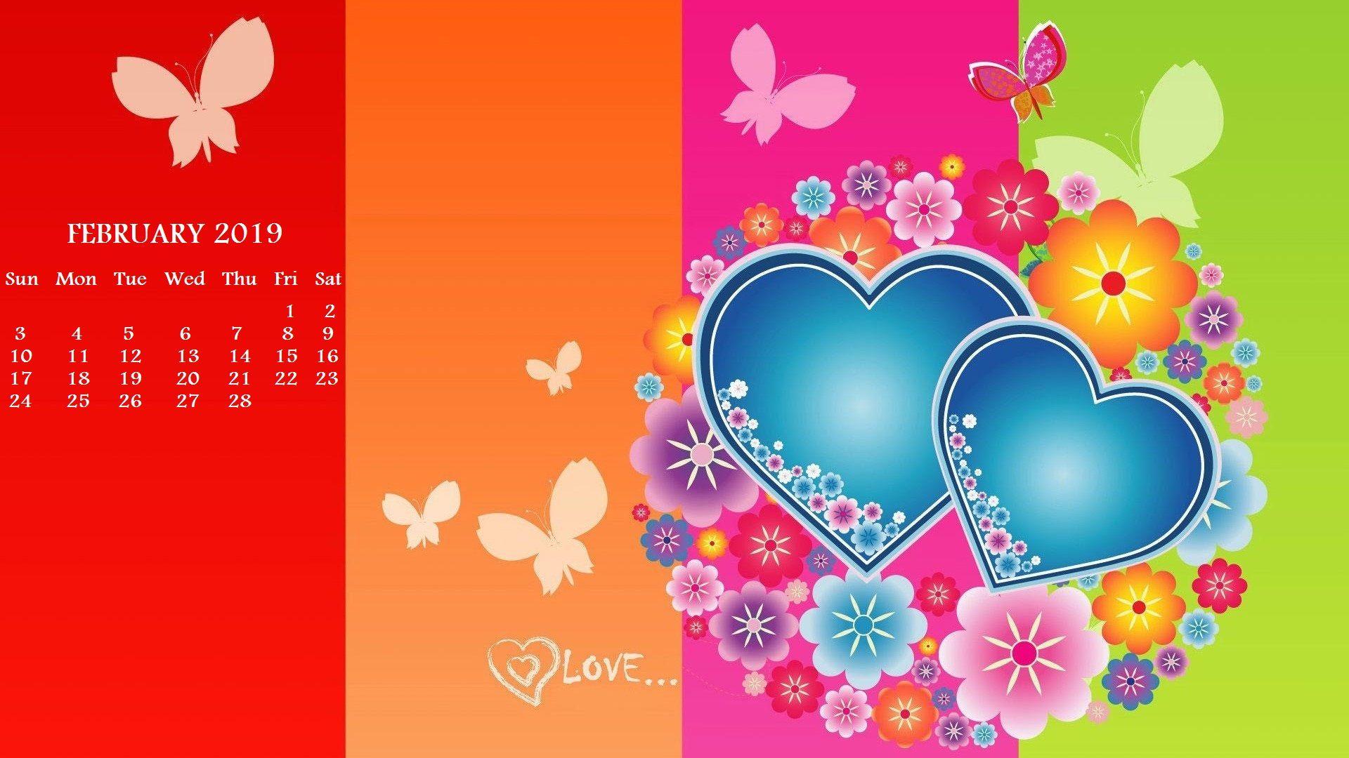 happy valentines day 2019 calendar wallpaper desktop