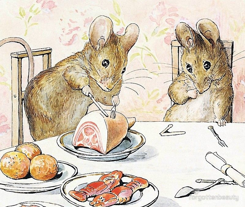 Plaster Food - The Tale of Two Bad Mice - Beatrix Potter' Art ...