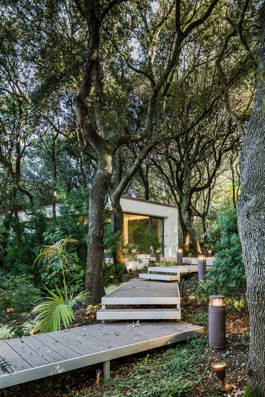 House garden trees  Outbuilding of the Week A Sardinian Guest House in the Trees