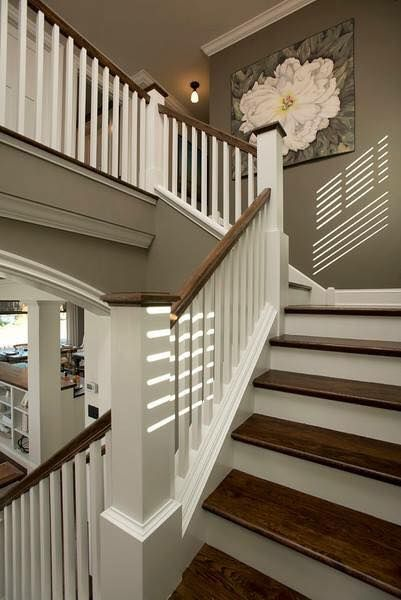 Beautiful dark wood stairs compartment of an apartment Pinterest