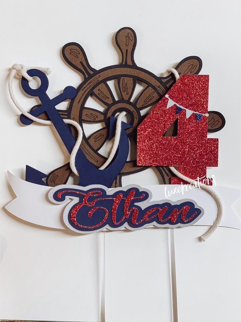 Sailor boy cake topper sailor party marine sail ocean