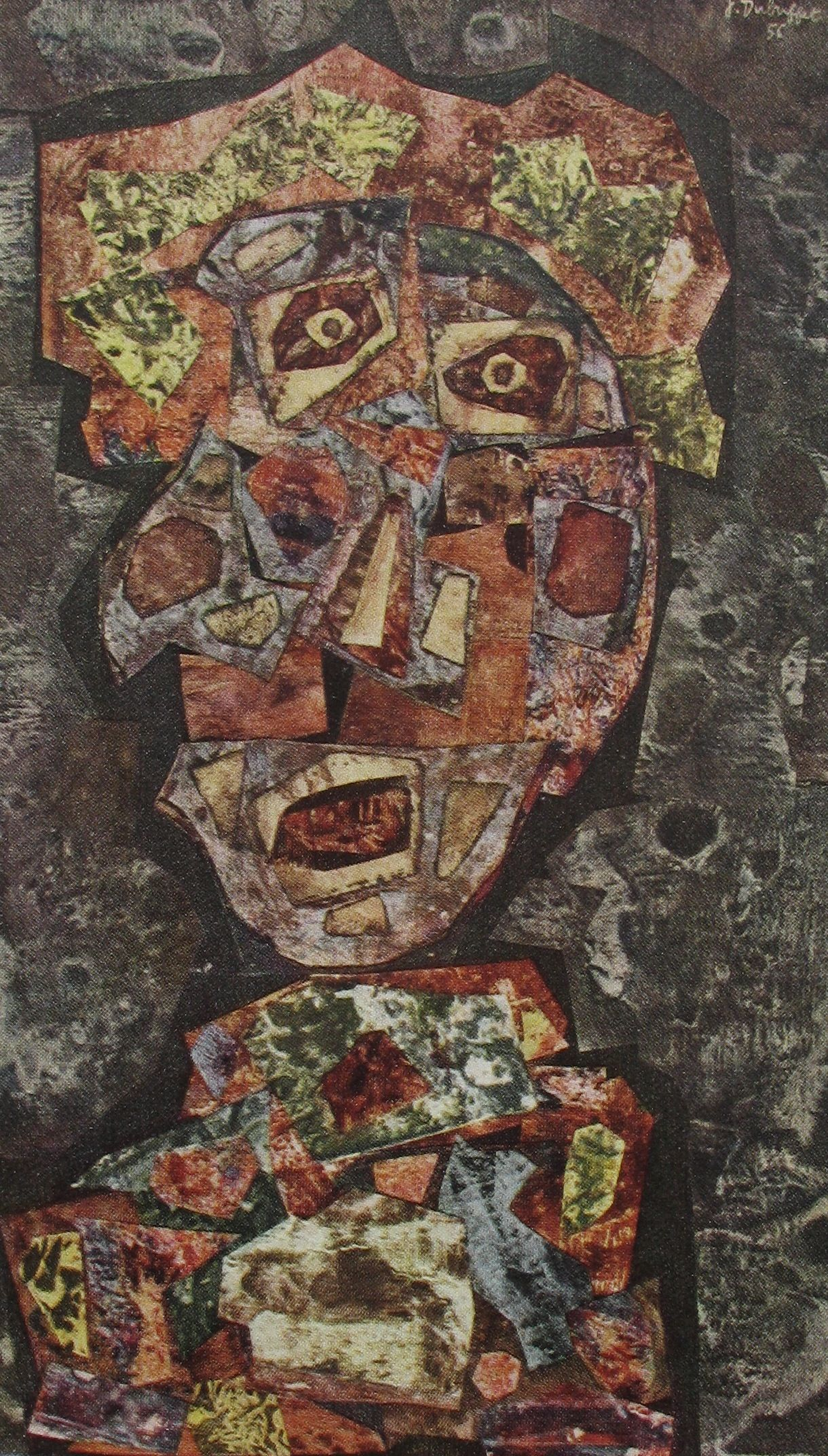 Art Fabric Print Oil Painting Jean Dubuffet The Cow with the Subtile Nose